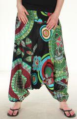 Sarouel Noir pour Femme 3en1 Ethnique et Coloré Christophe 282443
