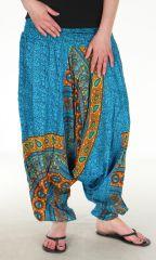 Sarouel Original 3 en 1 Turquoise Ethnique à Mandalas Quentin 282542