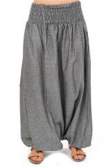 Sarouel Original en coton du Népal extra large gris Groony 303059