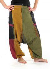 Sarouel Original en coton style reggae vert, jaune, rouge Jama 303071