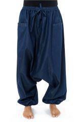 Sarouel original et tendance en jean denim bleu Jinna 303107