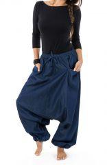 Sarouel original et tendance en jean denim bleu Jinna 303108