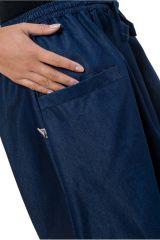 Sarouel original et tendance en jean denim bleu Jinna 303110