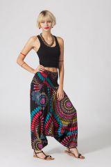 Sarouel original noir vêtement multifonctions 3 en 1 Yasmina 289391