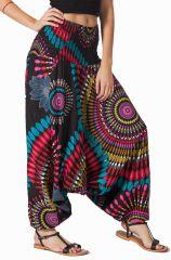 Sarouel original noir vêtement multifonctions 3 en 1 Yasmina 292325
