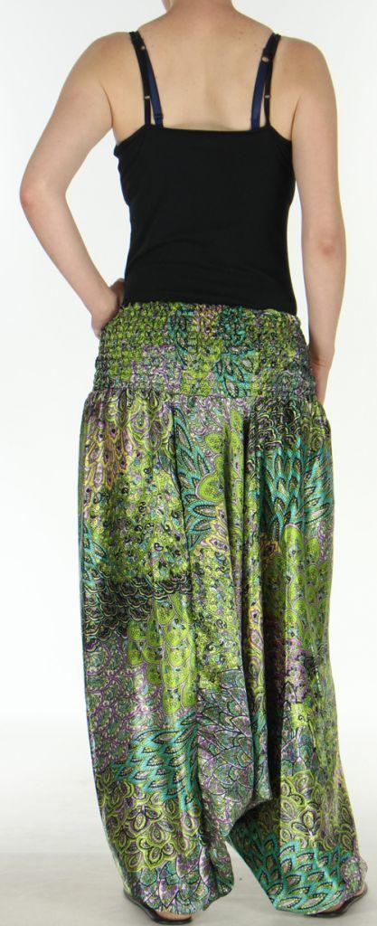 Sarouel pour Femme Chic et Ethnique aspect soie Joanis Anis 275419