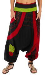 Sarouel pour femme chic et très original Zagazig noir 314085