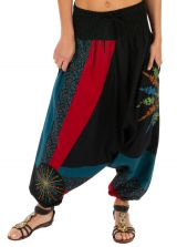 Sarouel pour femme ethnique et coloré Mindelo noir 313837