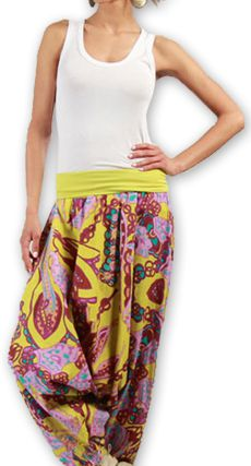 Sarouel pour Femme Ethnique et Coloré Thaly Rose 277163