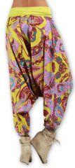 Sarouel pour Femme Ethnique et Coloré Thaly Rose 277166