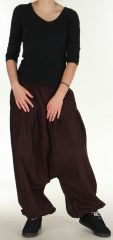 Sarouel pour Femme Ethnique et Confortable Kasaya Café 275535