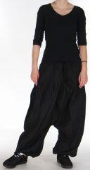 Sarouel pour Femme Ethnique et Confortable Kasaya Noir 275531