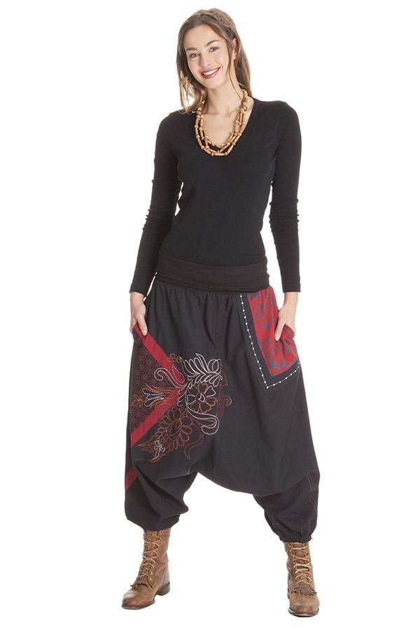 Sarouel pour femme Ethnique et Original Joey Noir 285695