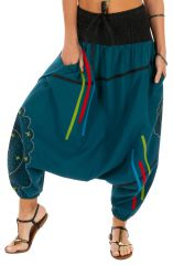 Sarouel pour femme idéal détente ou grossesse Louxor bleu 314070