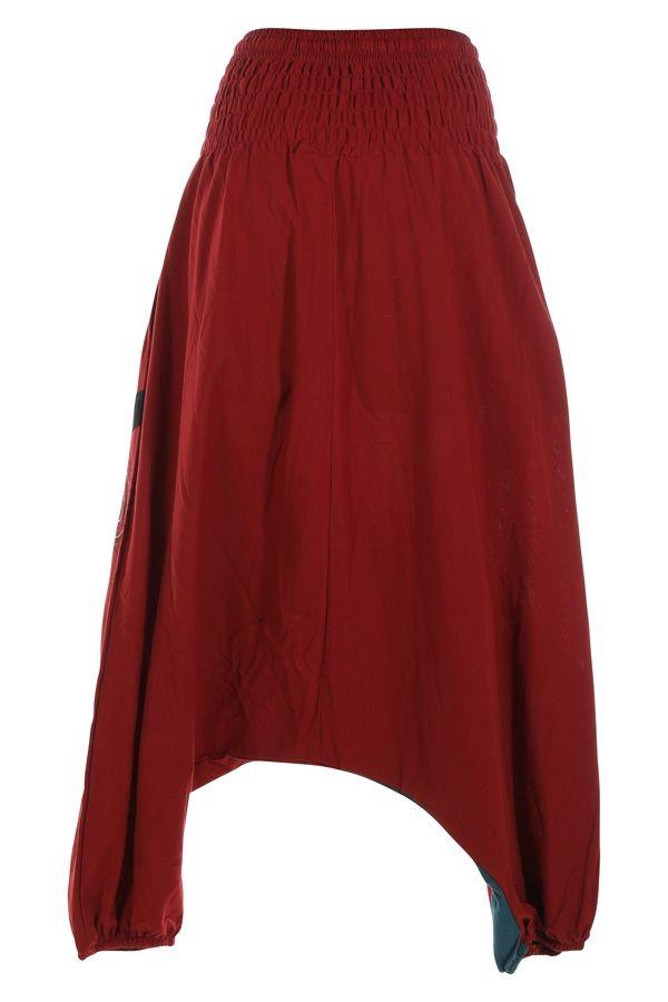 Sarouel pour femme pas cher et imprimé Allada rouge 315016