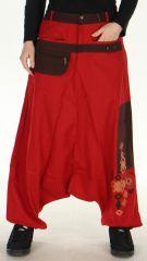 Sarouel pour Femme Rouge esprit Afrique et Original Yaké 278482