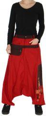 Sarouel pour Femme Rouge esprit Afrique et Original Yaké 278483