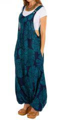 Sarouel salopette pour femme en voile de coton look ethnique Naomi 306556