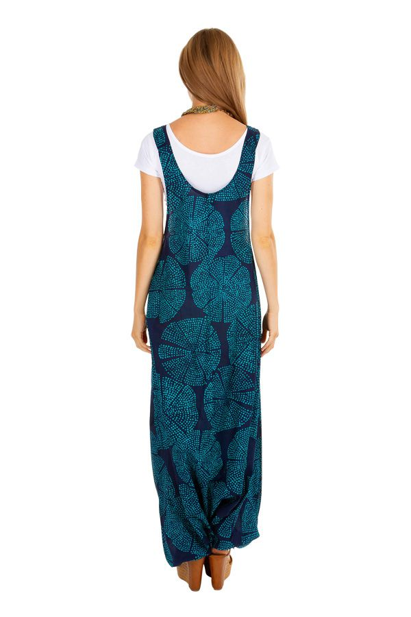 Sarouel salopette pour femme en voile de coton look ethnique Naomi 306558