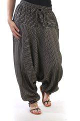 Sarouel tendance avec ceinture élastiqué marron Paige 290633