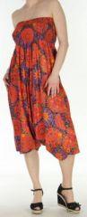 Sarouel transformable 3en1 coloré et pas cher Orange Fluid 272643