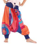Sarouel Transformable Orange pour Enfant Coloré et Original Girafe 280270
