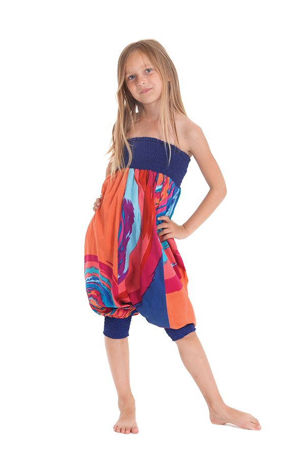 Sarouel Transformable Orange pour Enfant Coloré et Original Girafe 280273