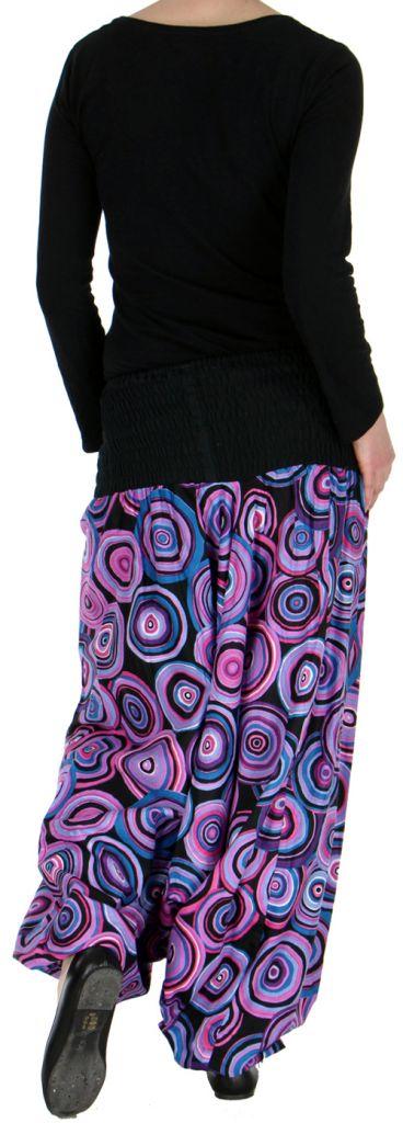 Sarouel transformable original ethnique 3en1 coloré Purple Circle 272517