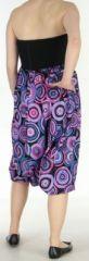 Sarouel transformable original ethnique 3en1 coloré Purple Circle 272519