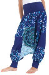 Sarouel Transformable pour Enfant Original et Coloré Girafe Bleu 280262