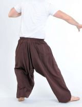 Sarouel unisexe tendance ethnique et original marron Cirah 302744