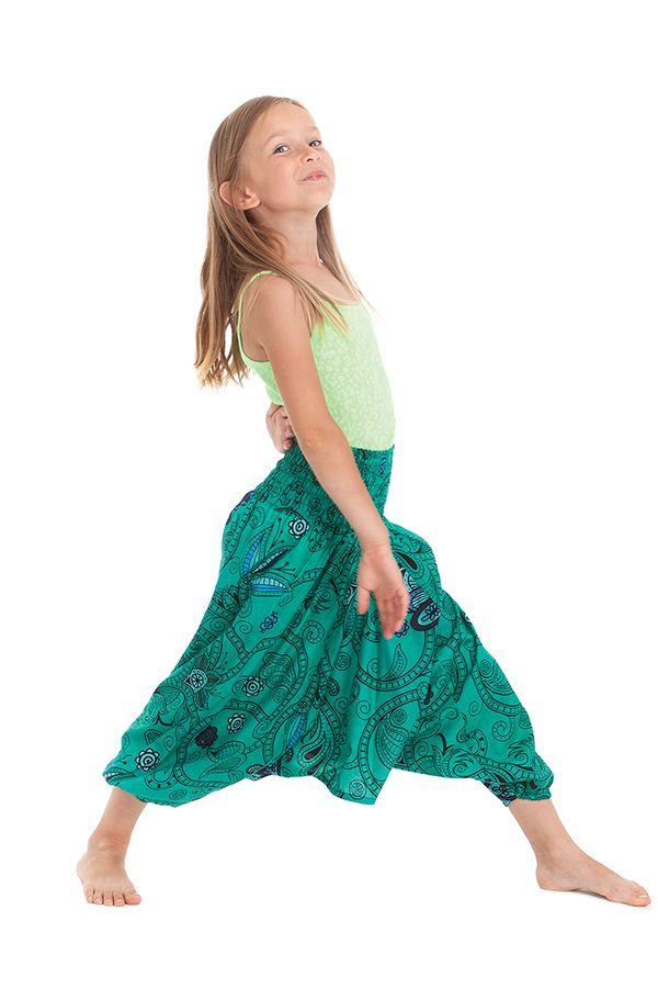 Sarouel vert transformable pour enfant Pas cher et Coloré Bolivar 280019
