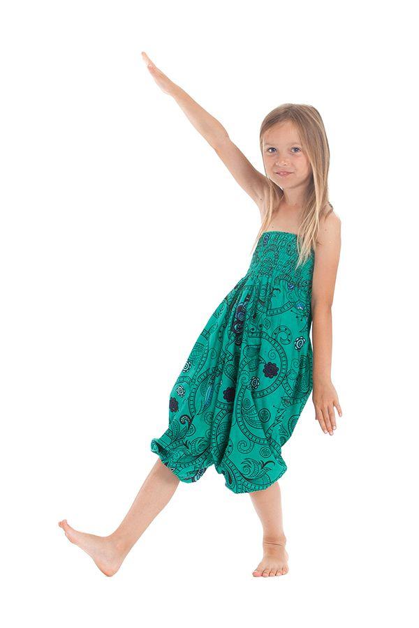 Sarouel vert transformable pour enfant Pas cher et Coloré Bolivar 280020