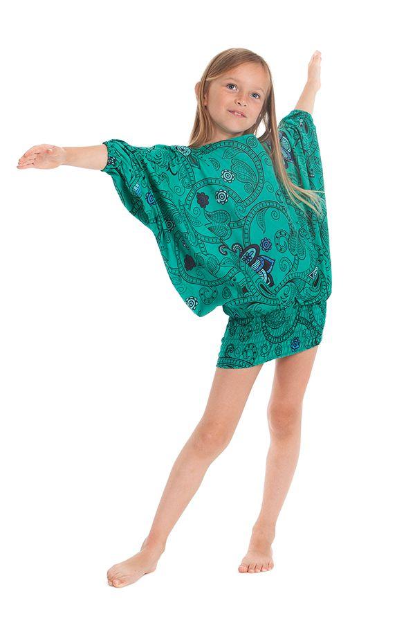 Sarouel vert transformable pour enfant Pas cher et Coloré Bolivar 280021