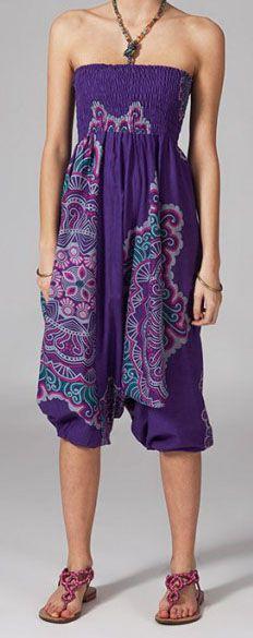 Sarouel violet pour femme Shany 269428