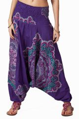Sarouel violet pour femme Shany 292428