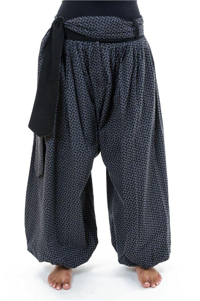 Sarwel pantalon large femme en coton épais imprimé Giloni 305521