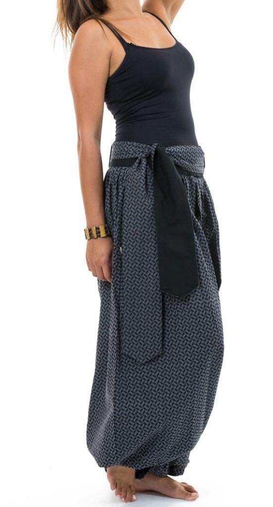 Sarwel pantalon large femme en coton épais imprimé Giloni 305523