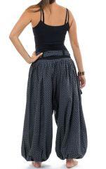 Sarwel pantalon large femme en coton épais imprimé Giloni 305524