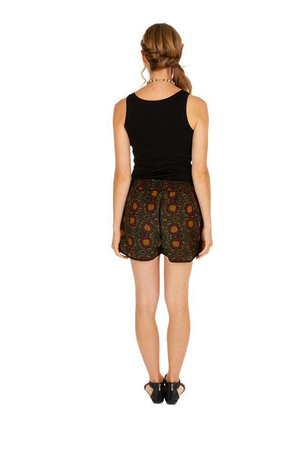 Short élastiqué pour femme avec un imprimé floral Manou 311572