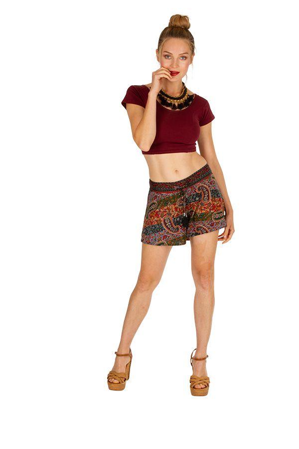 Short femme habillé, fluide et avec une taille smockée Julie