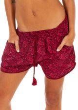 Short imprimé rose pour femme avec des poches Fanny