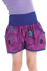 Short Violet Coloré et Original pour Enfant Gazelle 280302