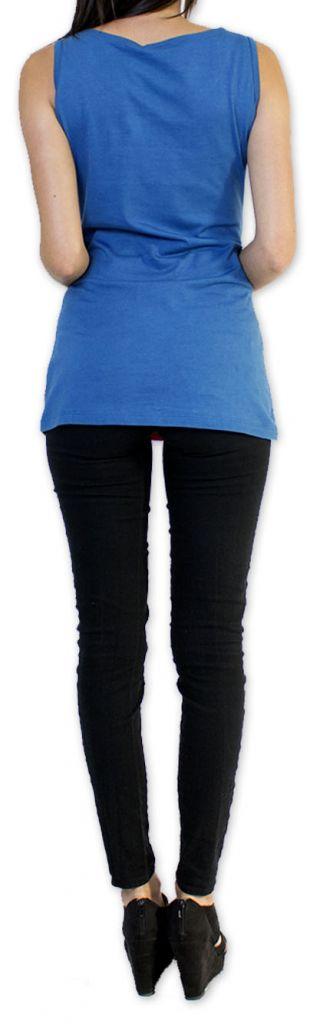 Super top/débardeur original et coloré Bleu Circel 273403