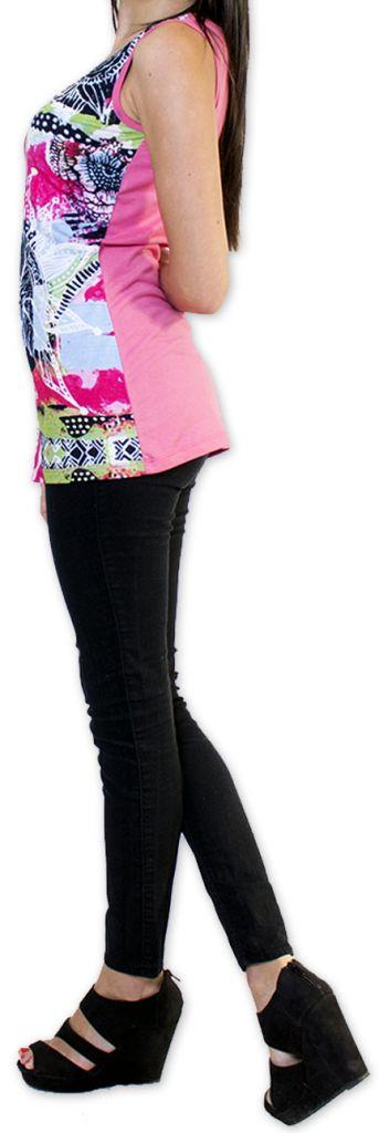 Super top/débardeur original et coloré Rose Circel 273409