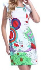Superbe robe courte colorée et originale Blanche Corra 273419