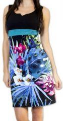 Superbe robe courte d'été idéale cérémonie Noire Ennora 273447