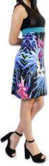 Superbe robe courte d'été idéale cérémonie Noire Ennora 273449