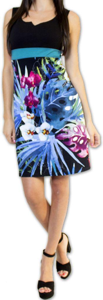 Superbe robe courte d'été idéale cérémonie Noire Ennora 273450