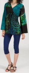 Superbe tunique ethnique et colorée - manches longues - Morgane 271922